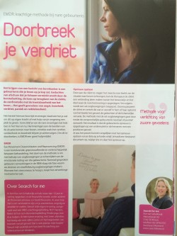 "For you magazine, sept 2015: ""Doorbreek je verdriet bij borstkanker met EMDR"""